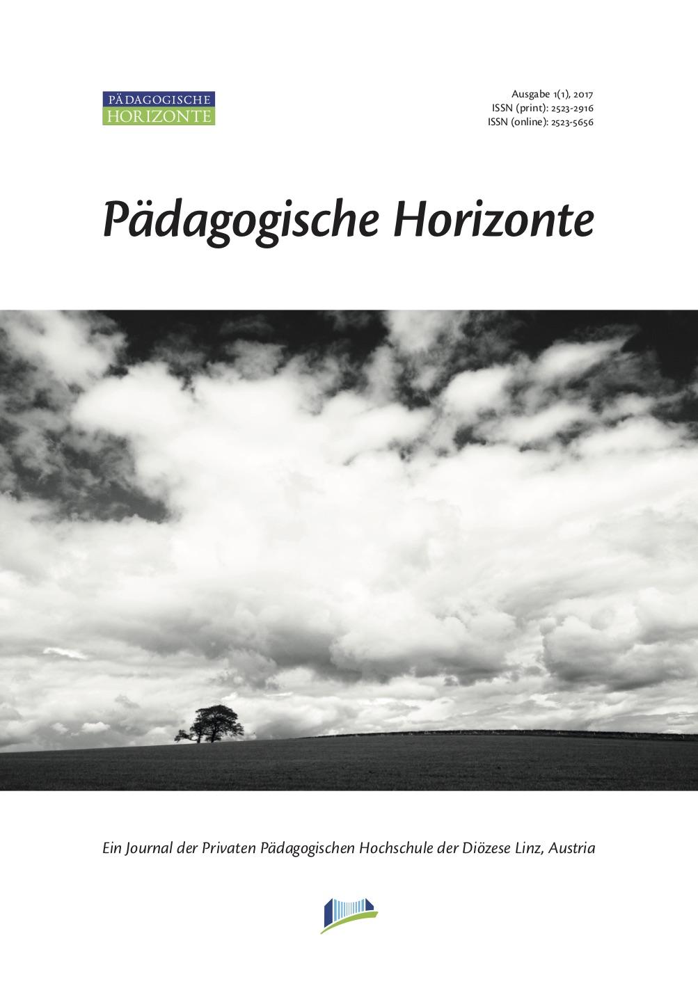 Pädagogische Horizonte 1(1), 2017